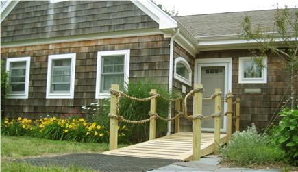 North Falmouth (Megansett) Cape Cod vacation rental - Park at the front door ramp and enter by the gardens