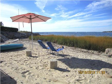 North Falmouth (Megansett) Cape Cod vacation rental - Secluded private beach just below the back lawn
