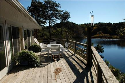 Chatham Cape Cod vacation rental - Spacious deck overlooking Ryder Pond