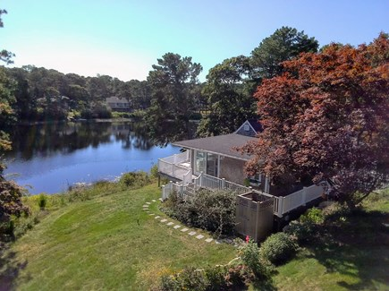 Chatham Cape Cod vacation rental - View of the main house situated on Ryder's Pond in Chatham
