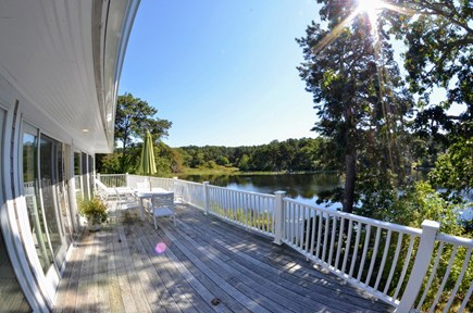 Chatham Cape Cod vacation rental - Enjoy relaxing on the deck overlooking Ryder's Pond