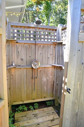 Chatham Cape Cod vacation rental - An outdoor shower is located off the deck