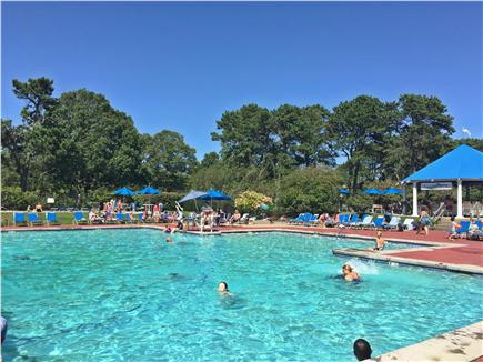 Brewster Cape Cod vacation rental - Arbor Pool (one of two outside pools) has kiddie pool & hot tub