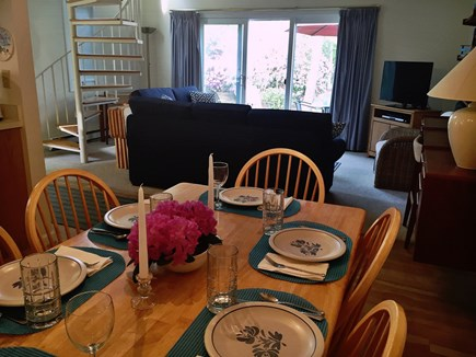 Ocean Edge Cape Cod vacation rental - Dining area with dimmer provides atmosphere