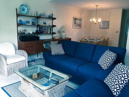 Ocean Edge Cape Cod vacation rental - Brand new living room couch, loveseat, and smart TV