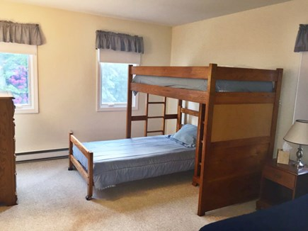 Ocean Edge Cape Cod vacation rental - Upstairs Bedroom with bunk bed, twin bed and TV