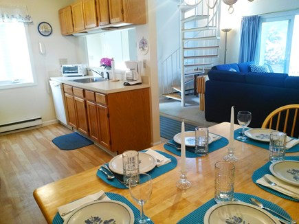 Brewster Cape Cod vacation rental - Open living, dining and kitchen