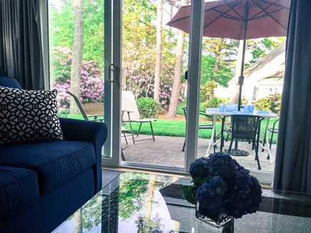 Ocean Edge Cape Cod vacation rental - Comfortable living and dining area opens to patio & courtyard