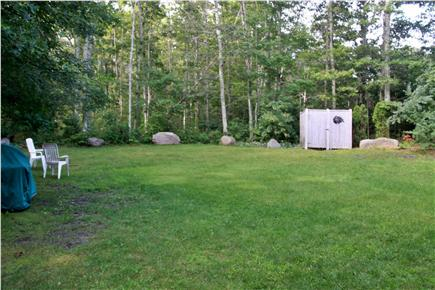 Falmouth, Sippewissett Cape Cod vacation rental - Lush grass backyard with outdoor hot shower