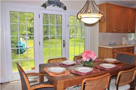 Falmouth, Sippewissett Cape Cod vacation rental - Comfortable kitchen seating with secluded wooded view