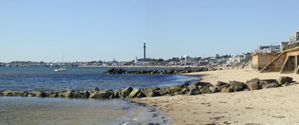 Provincetown, East End Cape Cod vacation rental - Beach in front of Grand View looking towards town