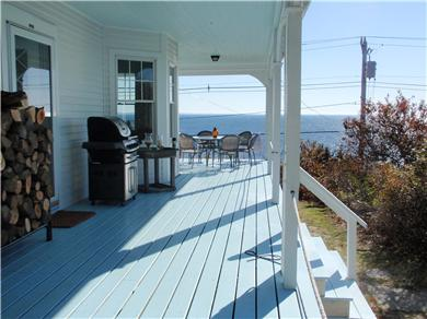 Provincetown, East End Cape Cod vacation rental - Large wrap-around porch with stunning vistas