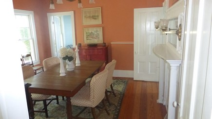 Provincetown, East End Cape Cod vacation rental - Classic dining room with table to seat eight