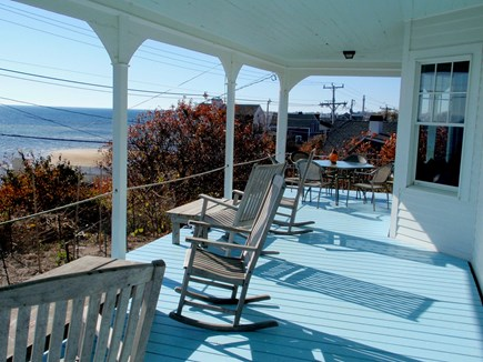 Provincetown, East End Cape Cod vacation rental - Covered wrap-around porch looking towards town