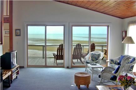North Eastham Cape Cod vacation rental - Living room view, Cape Cod Bay