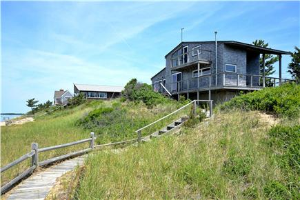 North Eastham Cape Cod vacation rental - Deck wraps around West and South side of the house