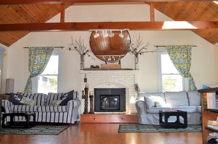 Hyannisport, MA Cape Cod vacation rental - Living Room with Gas Log