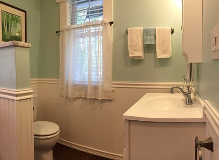 Monument Beach / Bourne Cape Cod vacation rental - Downstairs Full Bath/ Laundry room.