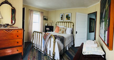 Monument Beach / Bourne Cape Cod vacation rental - Double bed with water view.