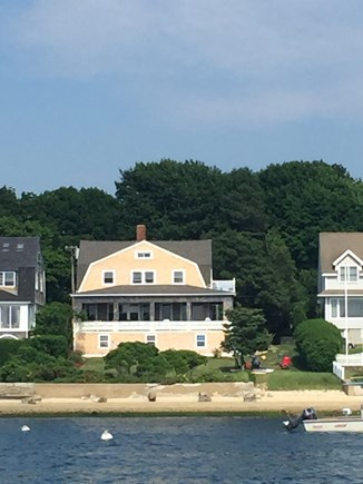Monument Beach / Bourne Cape Cod vacation rental - Looking at the house from the private beach.