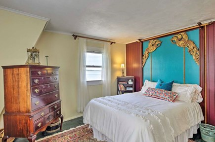 Monument Beach / Bourne Cape Cod vacation rental - Queen size master bedroom- has balcony overlooking the water.