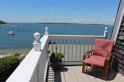 Monument Beach / Bourne Cape Cod vacation rental - View from the balcony off the Master Bedroom.