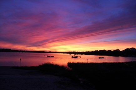 Chatham Cape Cod vacation rental - The sunset overlooking Oyster Pond is a short walk.