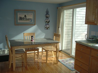 Chatham Cape Cod vacation rental - Other end of kitchen. Sliders lead out to the backyard.
