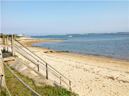 West Yarmouth Cape Cod vacation rental - One stairway from the yard to your beach at Lewis Bay