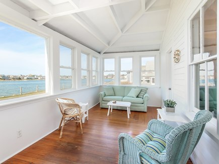 West Yarmouth Cape Cod vacation rental - Oceanfront sunporch with unbeatable views!  No need to dine out.