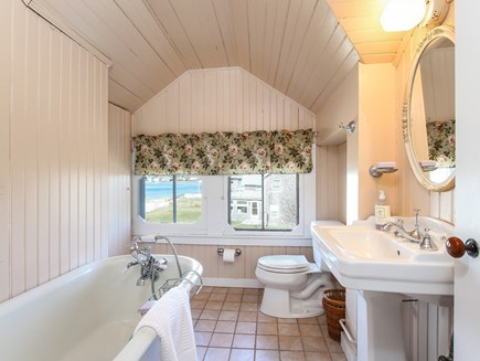 West Yarmouth Cape Cod vacation rental - Soaker bathtub with view.