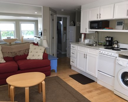 Provincetown Cape Cod vacation rental - Living area opens to kitchen area