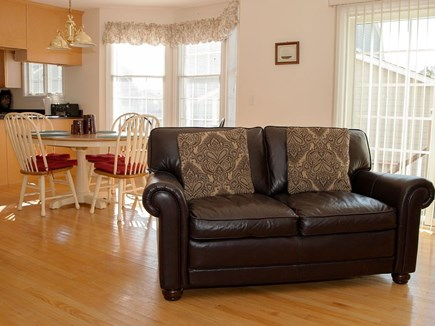 Falmouth Cape Cod vacation rental - Living room/eat-in kitchen