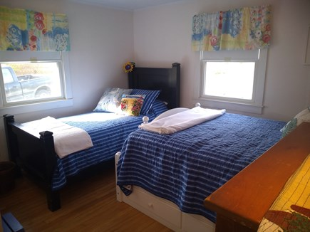 West Yarmouth Cape Cod vacation rental - The guest bedroom has a full size and a twin Bed.