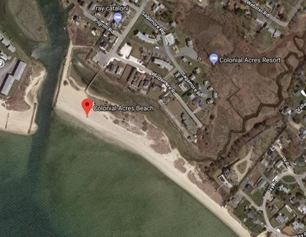 West Yarmouth Cape Cod vacation rental - Colonial Acres Beach 900 feet long.