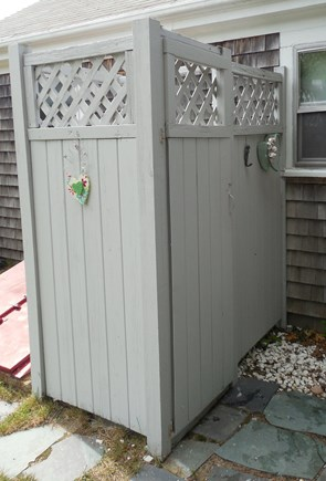 West Yarmouth Cape Cod vacation rental - Outdoor Showers are great!  Try one if you never have.
