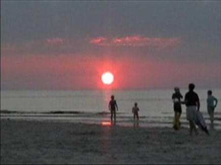 West Yarmouth Cape Cod vacation rental - A Hot Summer Night Sunset at Mayflower Beach in Dennis-The best!