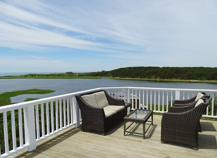 Wellfleet Cape Cod vacation rental - Panoramic views from upper deck, with several seating areas