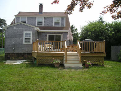 Dennis Port Cape Cod vacation rental - Deck before Outdoor Shower Enclosure Added