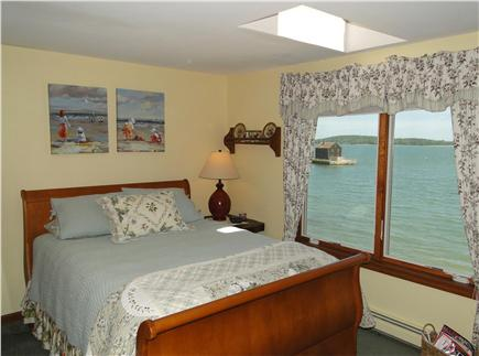 Kingston MA vacation rental - Morning sun on water, starry skies thru skylight. Queen size bed
