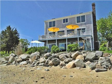Kingston Bay/Near Plymouth MA vacation rental - Ocean side of house. Walk down stone steps to beach.