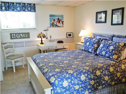 Kingston MA vacation rental - Downstairs suite - Queen bedroom w/ desk through French doors