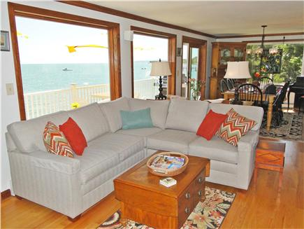Kingston MA vacation rental - Comfortable living room with panoramic water views
