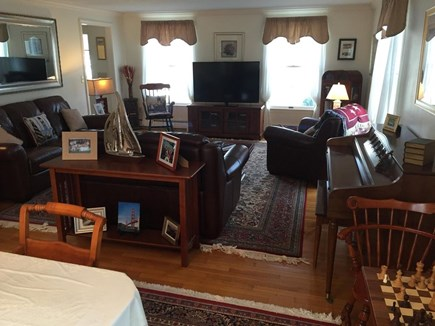 West Dennis Cape Cod vacation rental - Living room offers comfortable seating for all!
