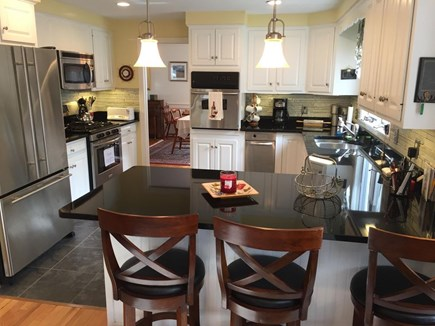 West Dennis Cape Cod vacation rental - Well maintained Kitchen with breakfast bar