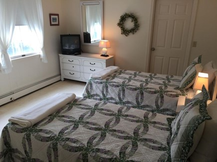 Dennis Cape Cod vacation rental - Upstairs Twin Bedroom with shared full bath in hallway