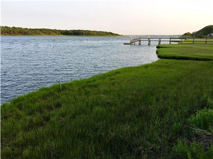 Falmouth, Waquoit Cape Cod vacation rental - Looking downriver from the slip