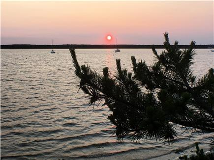 Falmouth, Waquoit Cape Cod vacation rental - Sunset from the private beach