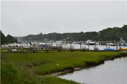 Falmouth, Waquoit Cape Cod vacation rental - Looking upriver from the slip