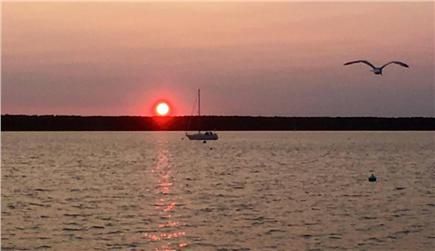 Falmouth, Waquoit Cape Cod vacation rental - Sunset on Waquoit Bay